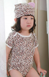 Sexy Leopard print Bodysuit with matching hat - I Babyland  - 2