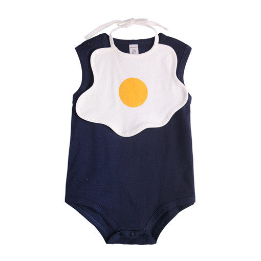 Sunny Shine Up Navy Blue Bodysuit with Bib