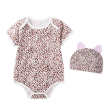 Sexy Leopard print Bodysuit with matching hat - I Babyland  - 1