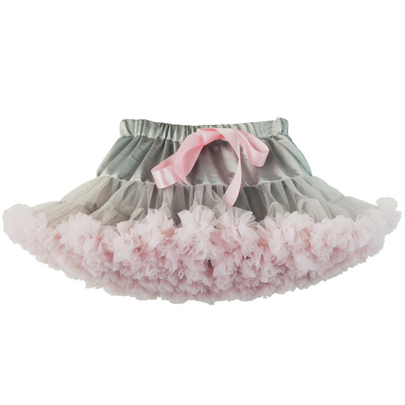 Mixed Grey & Pink Tutu Skirt
