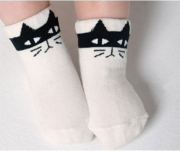 White Kitty Socks