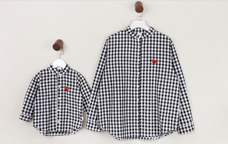Black and White Checker Long Sleeve Shirt