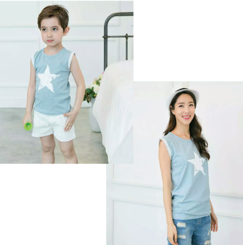 Star Tank Top in Blue