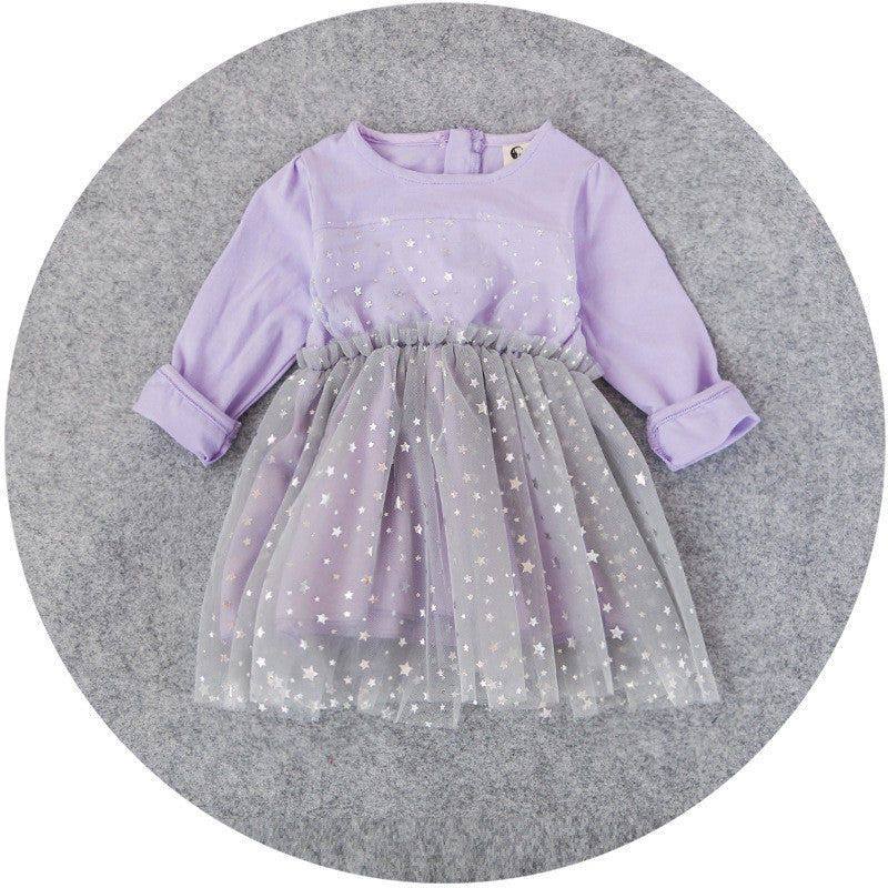 Shimmering Star Purple Dress