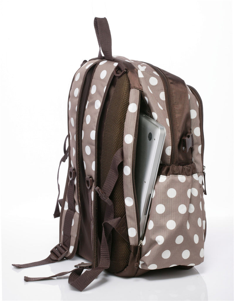 Polka Dots Nappy Backpack With Changing Mat