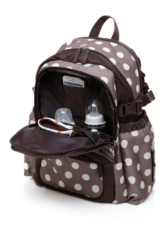 Polka Dots Nappy Backpack With Changing Mat - I Babyland  - 2