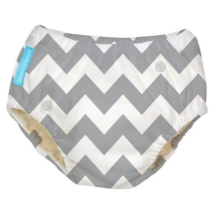Grey Chevron - 2-in-1 Swim Diapers - I Babyland