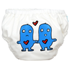 Lovey Dovey On White  - 2-in-1 Swim Diapers - I Babyland