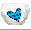 Blue Petit Couer White - 2-in-1 Swim Diapers - I Babyland