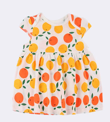 Orange Short Sleeve Dress