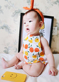 Orange Halter Suit