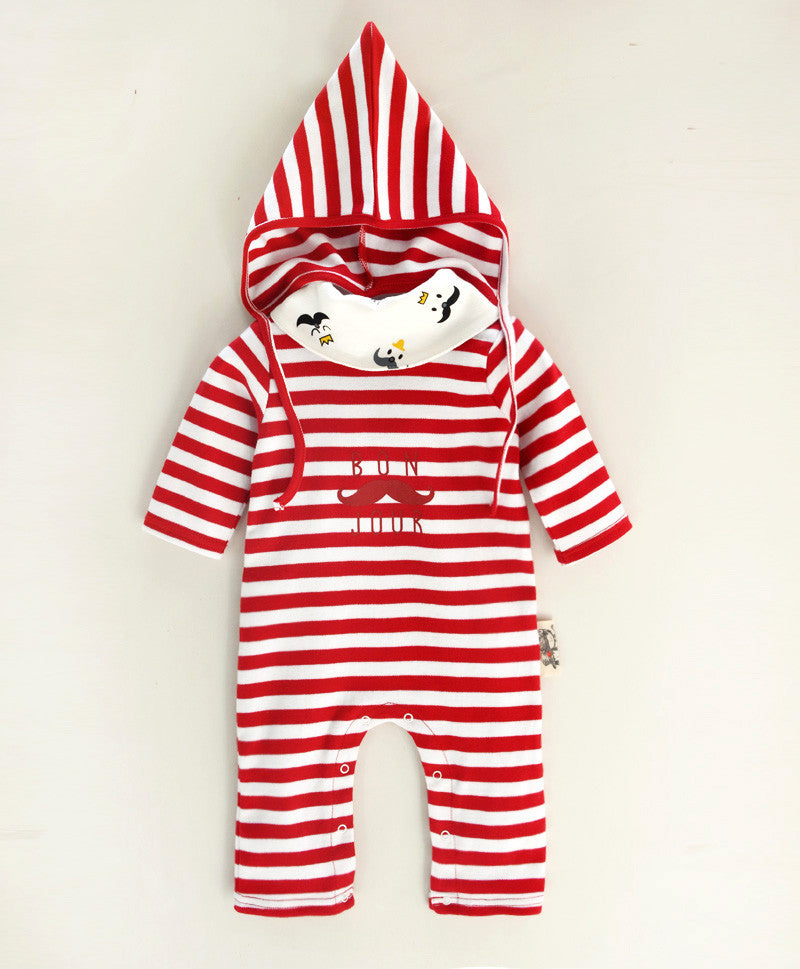 Red Stripes Mustache 3pc Set