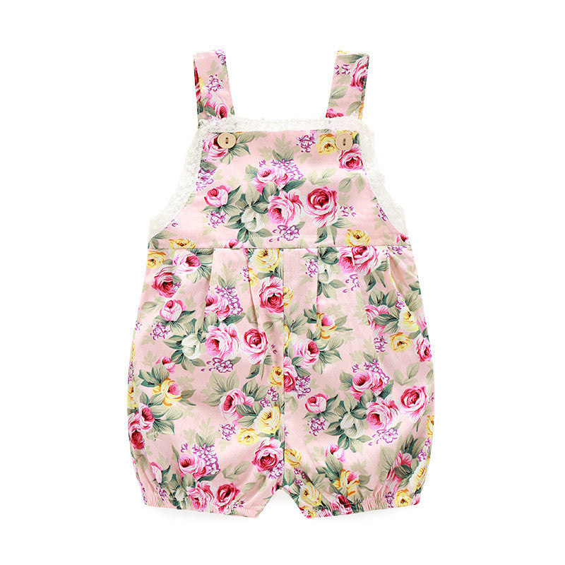 Floral Print Playsuit (Blush)