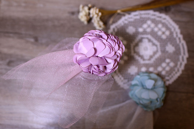 Lilac Lace Flower Hair Clip