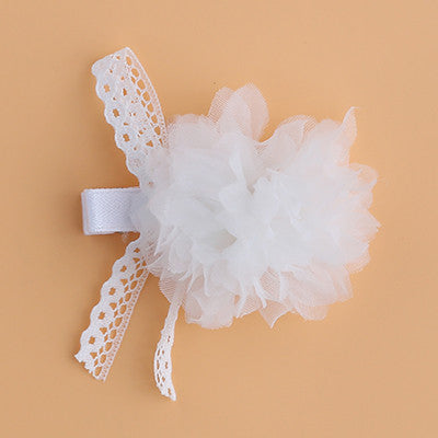 Lace Flower Hair Clip (2 colors available)