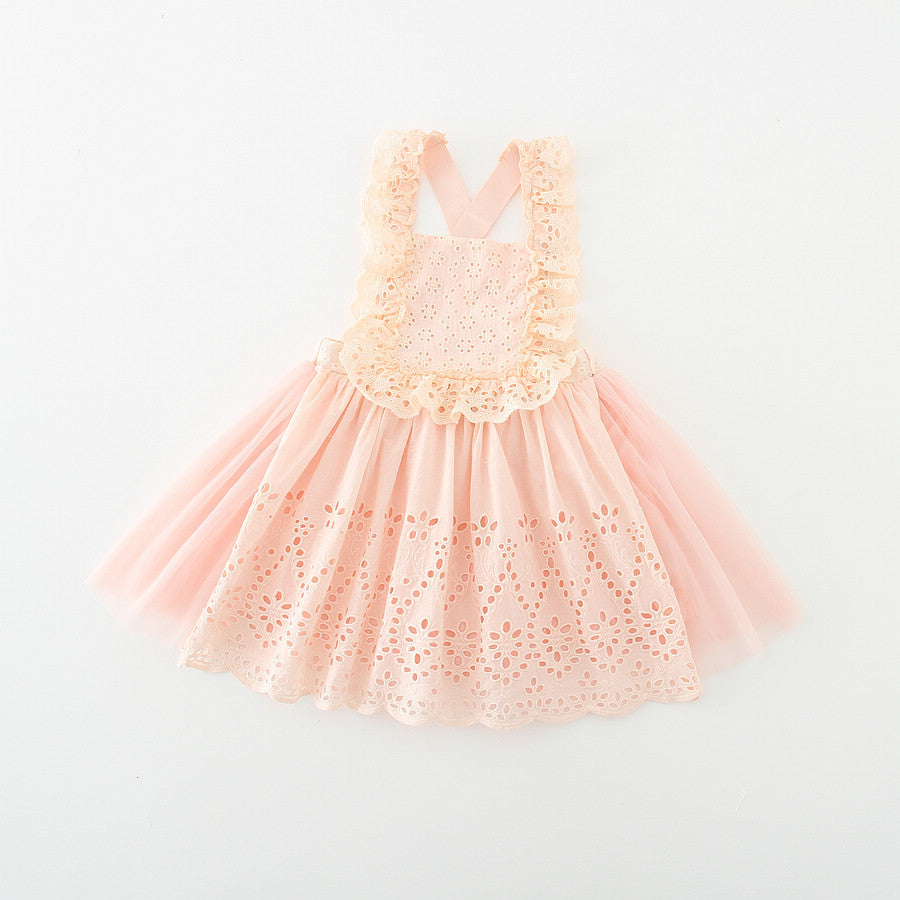 Eyelet Apron Dress 2pc Set