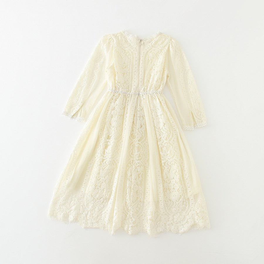Charlotte Lace Dress in Off White