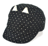 Cute Cat Black Cap