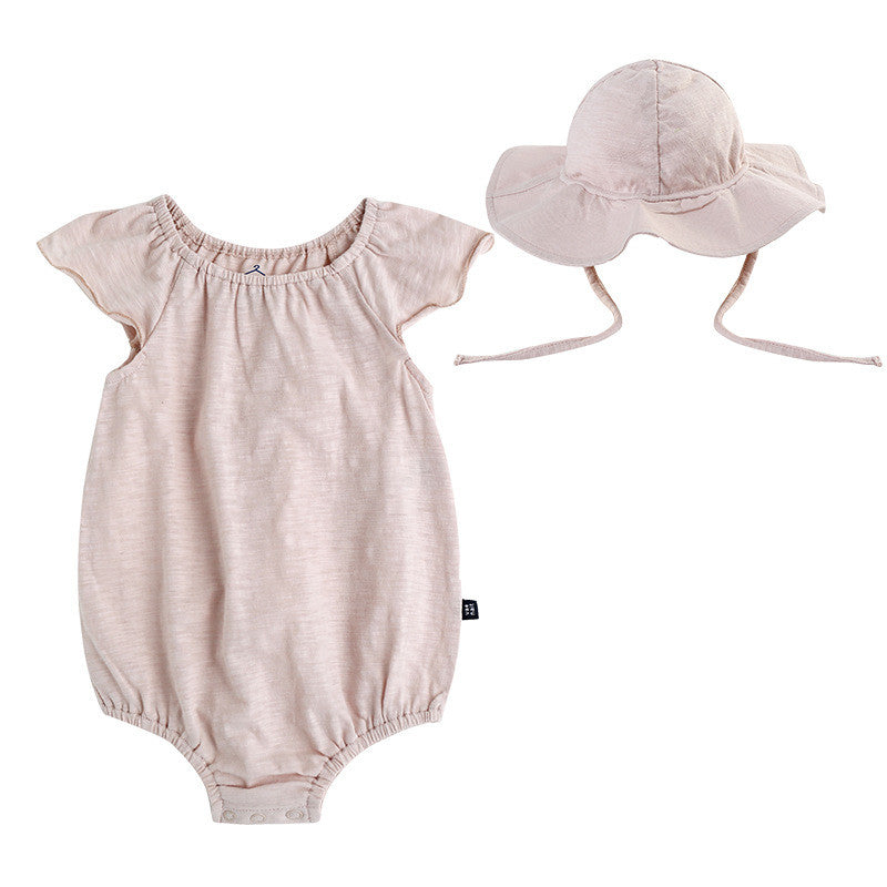 Almond Romper with Hat