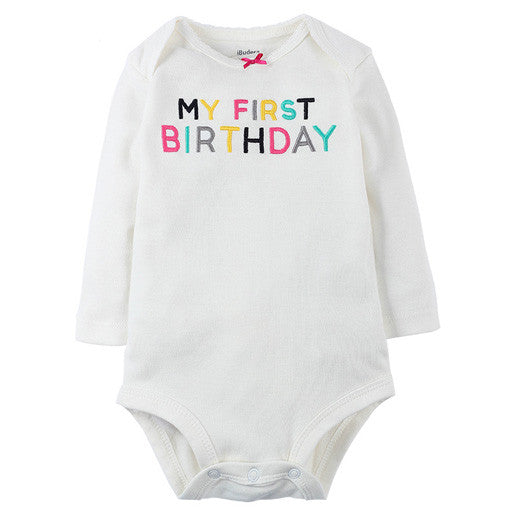 My First Birthday Bodysuit