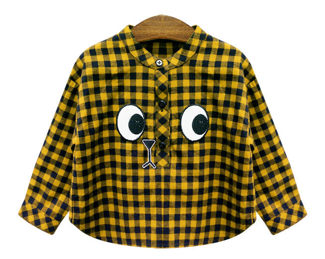 Big Eye Yellow Checker Blouse