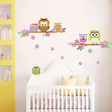 Colorful Owl Wall Stickers - I Babyland