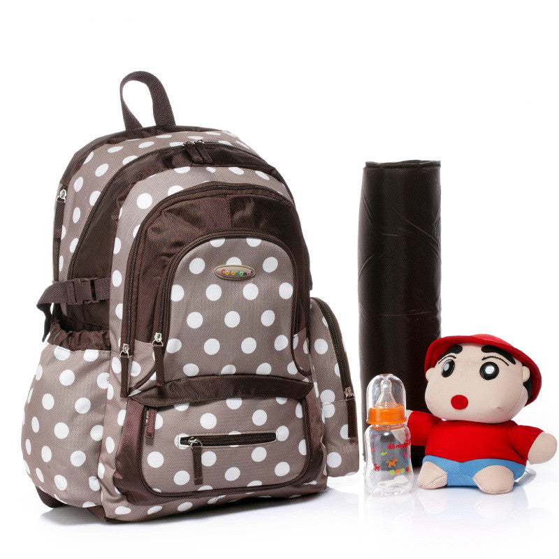 Polka Dots Nappy Backpack With Changing Mat - I Babyland  - 1