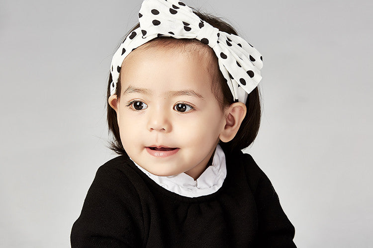 Polka Dots Bow Headwrap (4colors avail)