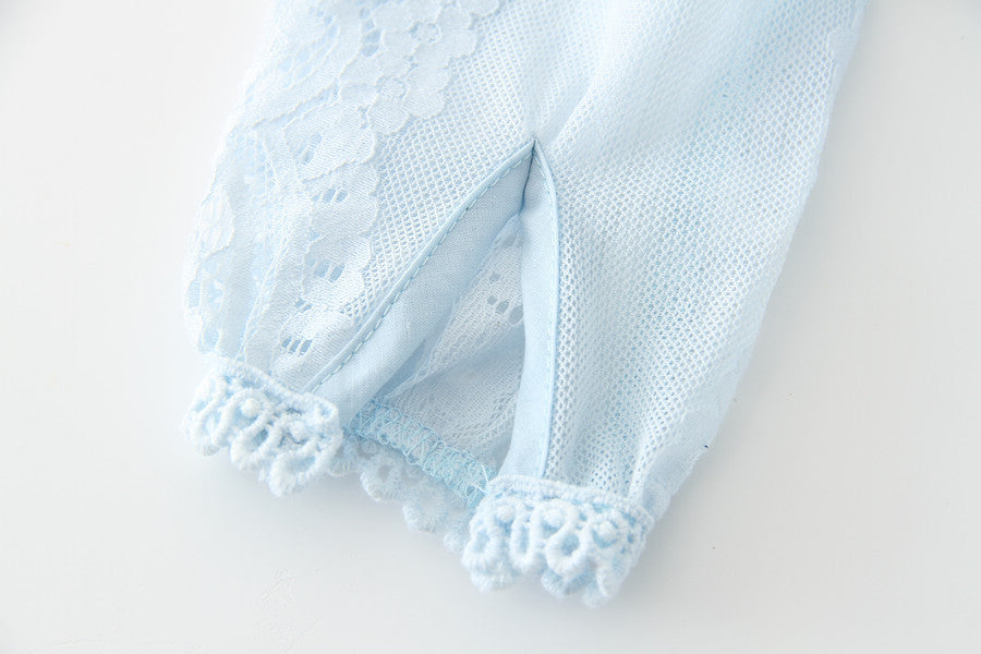Charlotte Lace Dress in Ice Blue