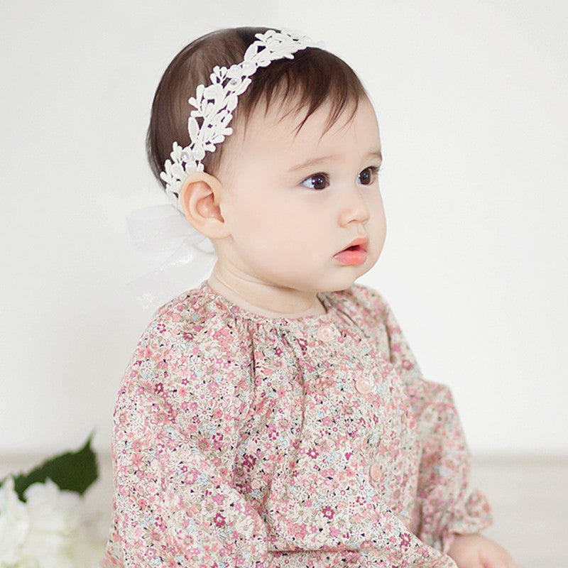 Pearl and Lace flower Headband