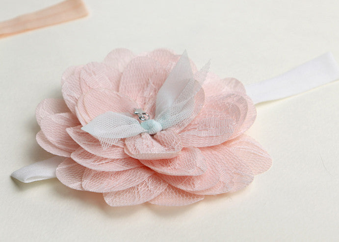 Tiered Flowers Baby Headband (2 colors avail)