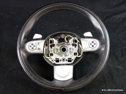 32306794625 07-16 Mini Cooper Sport Leather Paddle Shift Multifunction Steering Wheel R5x 147