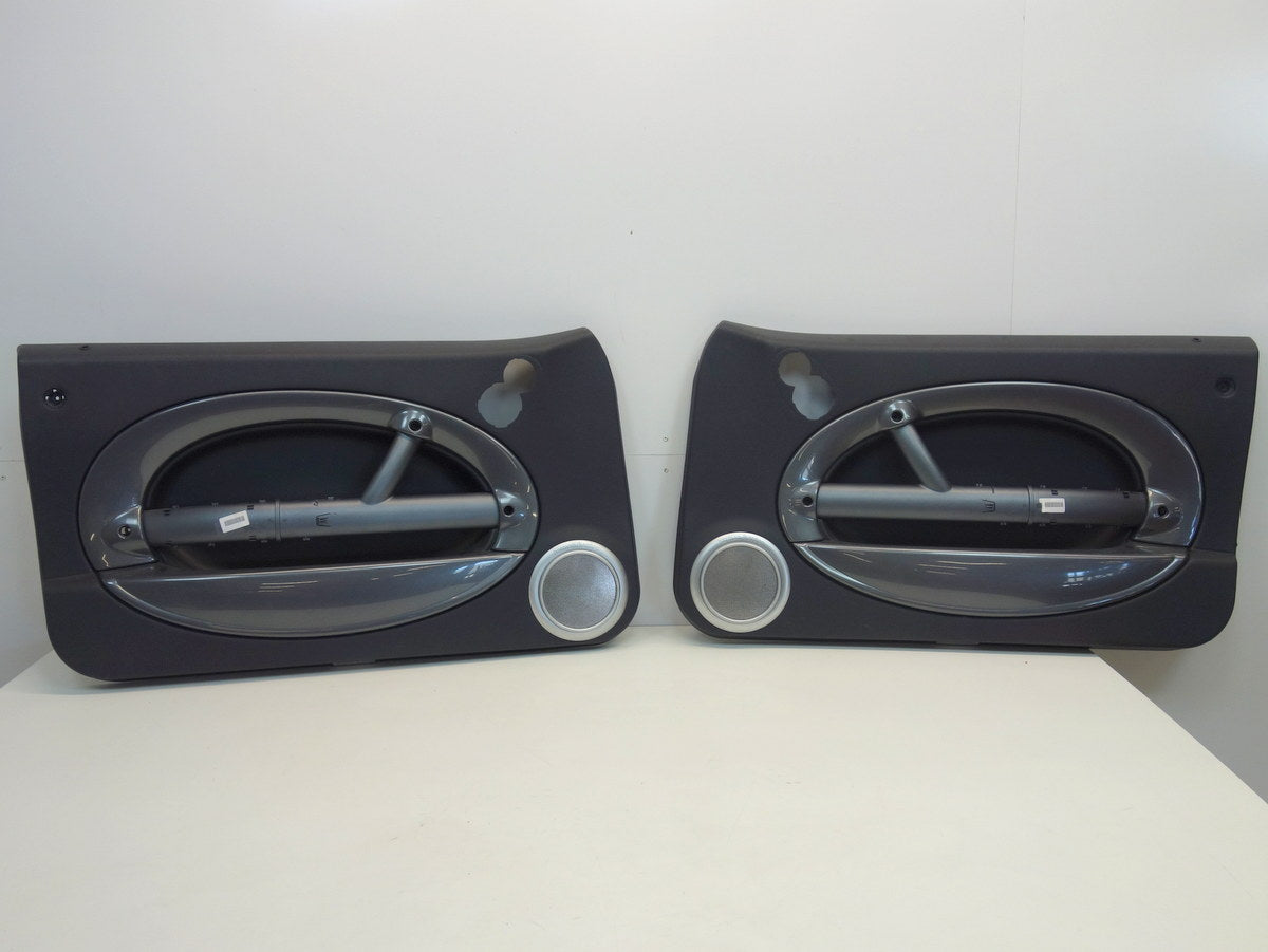 Mini Cooper Door Panel Pair Panther Black w/Anthracite Trim H/K 05-08 R50 R52 R53 195
