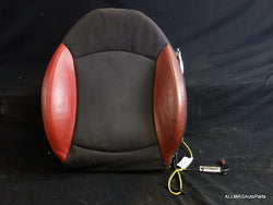 Mini Cooper Left Seat Backrest Cover Rooster Red Cloth/Leather 07-10 R55 R56 R57 82