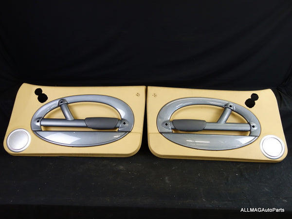 Mini Cooper Door Panel Pair Cordoba Beige w/Anthracite Trim H/K 02-04 R50 R53 54