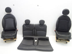 09-15 Mini Cooper R57 Convertible Seats Carbon Black Leatherette K9E1 172