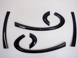 Mini Cooper Piano Black Door and Quarter Trim Set 07-15 R56 R57 204