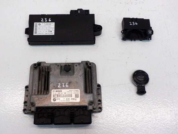 2011-2012 Mini Cooper S N18 CAS3 Module, DME and Key Set Manual Trans R5x R60 236