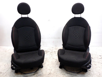 Mini Cooper Coupe Roadster JCW Checkered Fabric Seats ATP9 12-15 R58 R59
