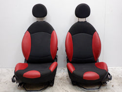 Mini Cooper Front Seats Rooster Red FKE6 Heated 2007-2014 R56 R55