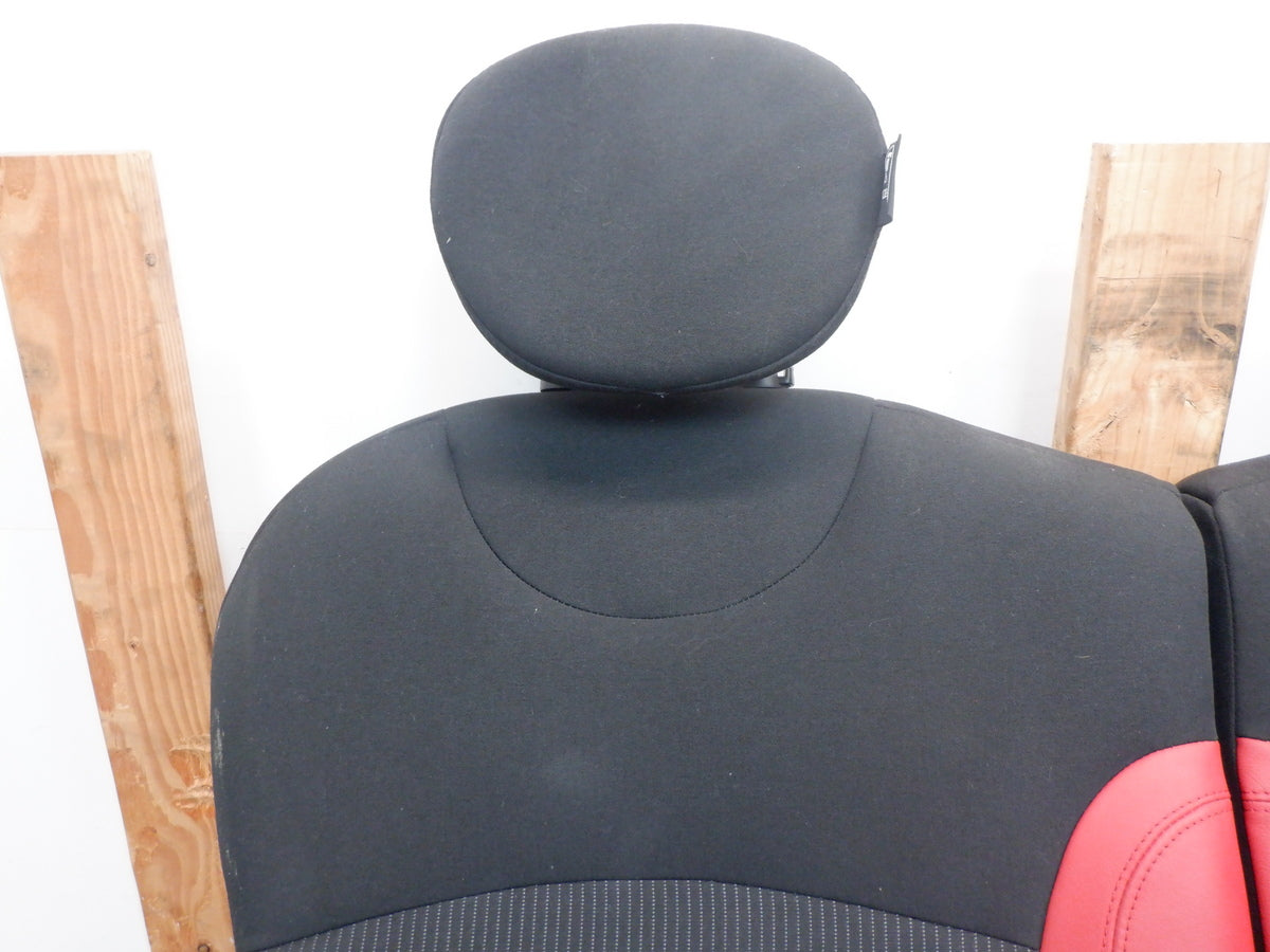 Mini Cooper Seats Rooster Red Leather Cloth 2007-2014 R56 R55 FKE6