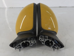 51162755635 51162755636 07-15 Mini Cooper Side View Mirror Pair Yellow R5x 84