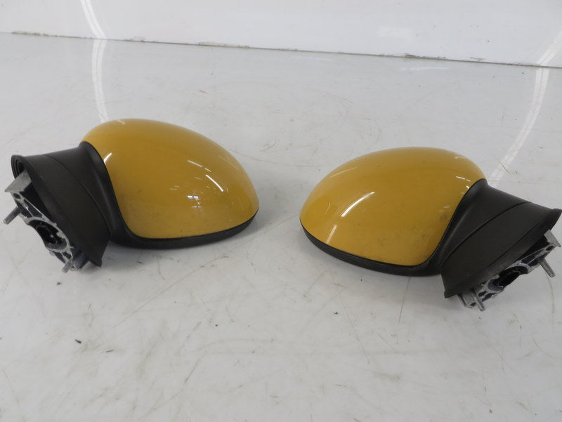 Mini Cooper Yellow Side Mirror Pair Manual Folding 2007-2015 R5x 84