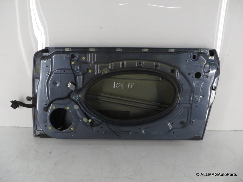 41517202912 02-08 Mini Cooper Right Front Door Shell Thunder Blue R50 R52 R53 109