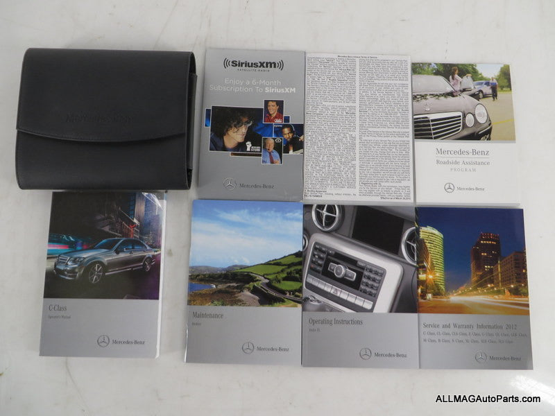 2012 Mercedes Benz C-Class Owner's Manual/Technical Literature & Case 2045846082