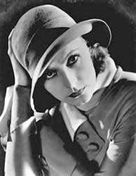 Garbo smoldering from underneath a slouch fedora