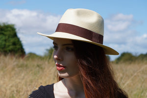 B&S Signature Ladies Fedora (Natural)