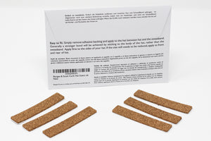 Traditional Cork Hat Sizing Strips - Self Adhesive - Set of 6