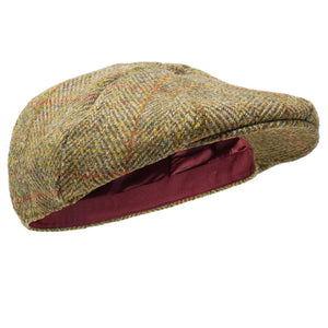 Borges & Scott Ladies Dingwall 8pc Harris Tweed Flat Cap