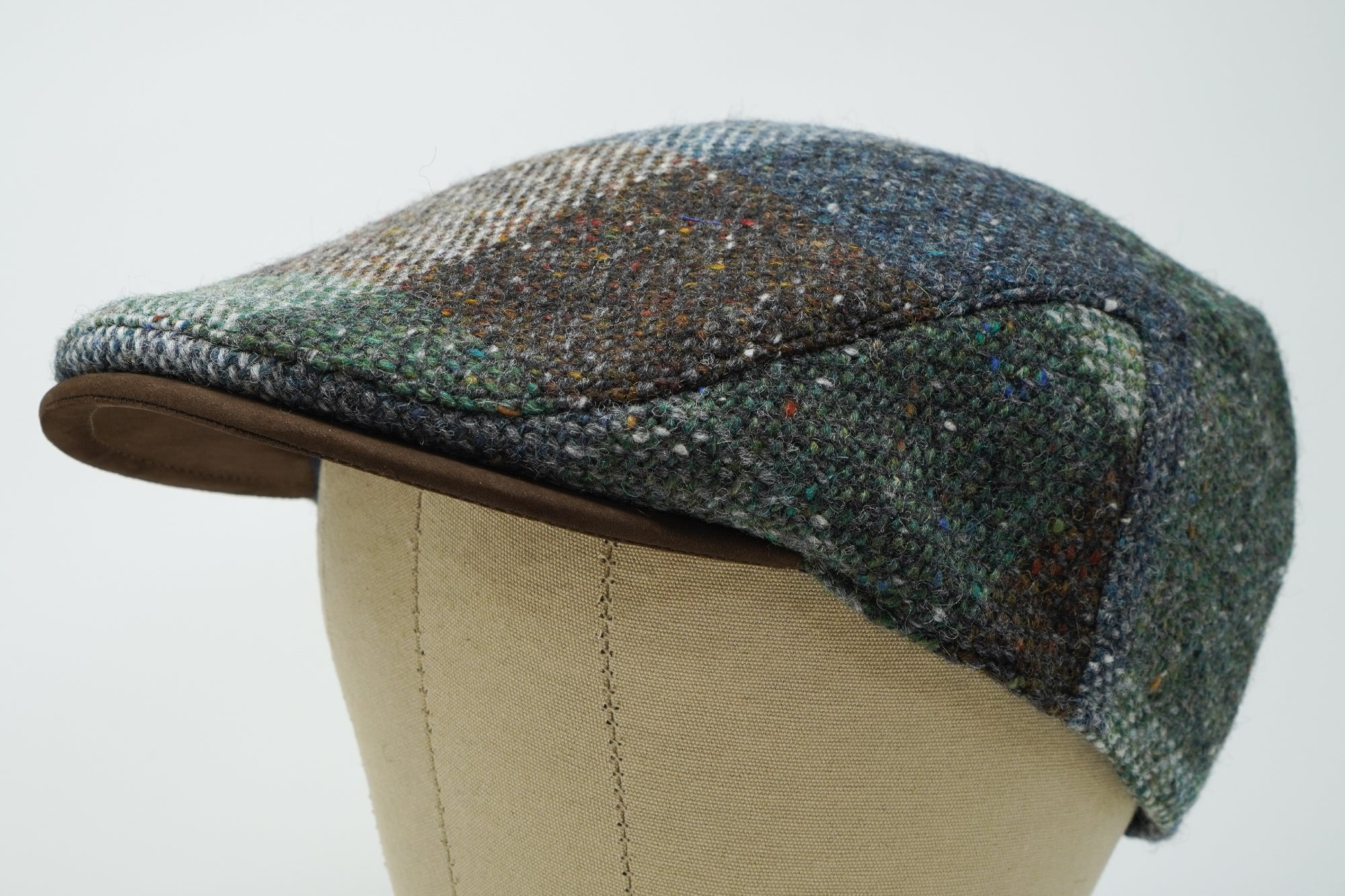 The Sloan Patchwork - Irish Tweed and Leather Cap